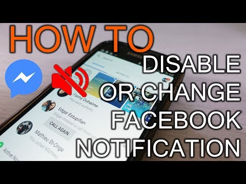 How to Disable or change Facebook Messenger Notification