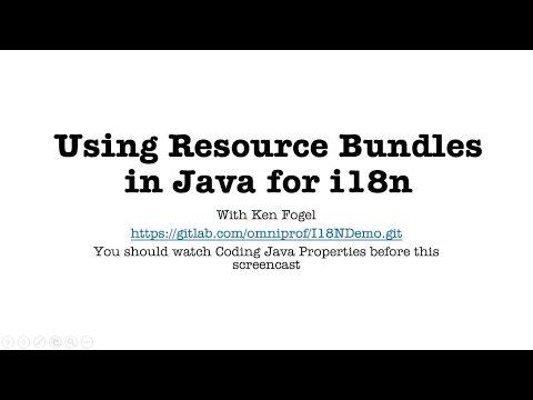Using Resource Bundles in Java for i18n
