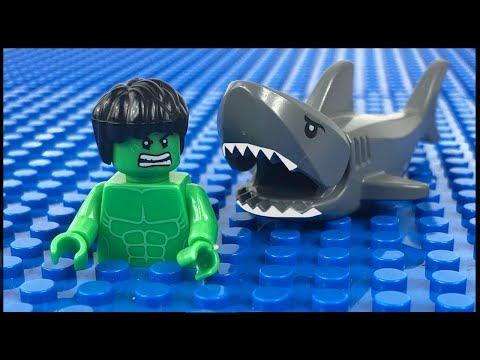 LEGO Hulk Shark Attack STOP MOTION LEGO Hulk Fishing Trip | LEGO Hulk | By LEGO Worlds