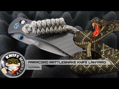 How To Make A Paracord Rattlesnake Knife Lanyard