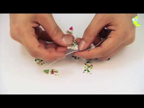 How to make decorative mini bunting from washi tape