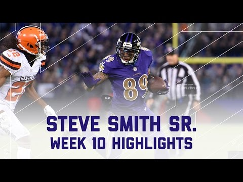 Steve Smith Moves to 8th All-Time Leading Receiver | Browns vs. Ravens | NFL Wk 10 Player Highlights
