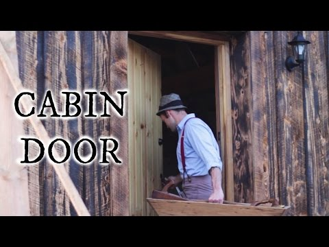 Our timber frame cabin part XX: INSULATED CABIN DOOR