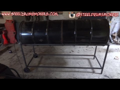 Steel Drum Smoker's BBQ - Double Barrel Grill Build - Part 2
