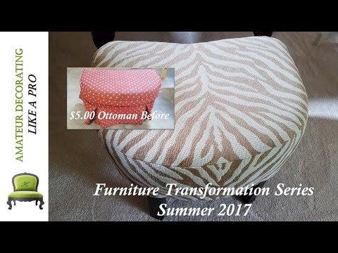 #FurnitureTransformationSeries - Summer 2017/ Ottoman Makeover