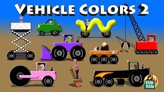 Vehicle Colors 2 - Crane ATV Grader Road Roller Scissor Lift Limo Electric Car