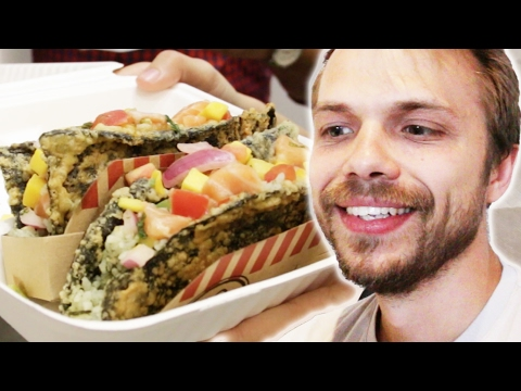 People Try Sushi Tacos