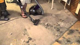 dyson cinetic science canister big mess test pt 1