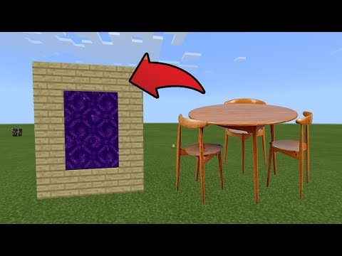 How To Make a Portal to the Wooden Furniture Dimension in MCPE (Minecraft PE)