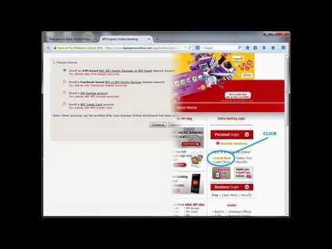 Sample Guide: BPI ATM Account Online Enrollment