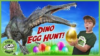 Download Dinosaurs & Easter Egg Hunt! Giant Dinosaur Nerf Battle & Gold Mystery Egg Surprise Toys for Kids Video