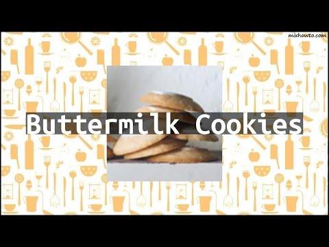 Recipe Buttermilk Cookies