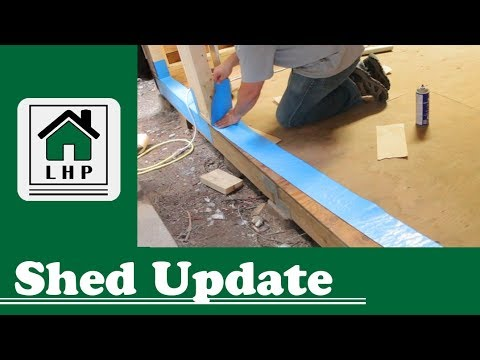 Shed Update - Soffit, Membrane, and Doors - LHP