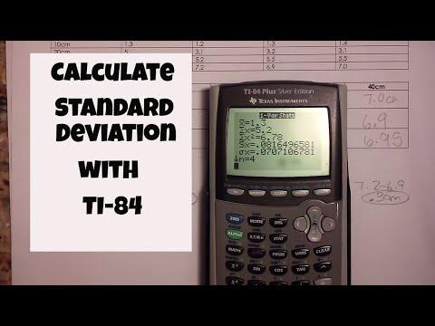 Calculate standard deviation using a ti 84 calculator
