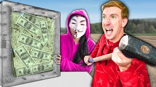 $10,000 IF YOU'RE FIRST TO BREAK THE BOX!! (UNBREAKABLE GLASS CHALLENGE)