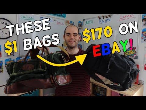 $1 Dollar Garage Sale Bags = $170 on Ebay!? - Flips & Finds #29