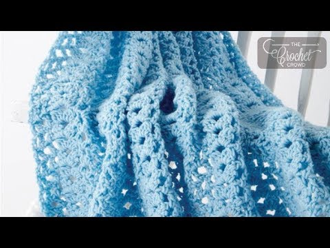 How To Crochet A Baby Blanket: Cluster Waves