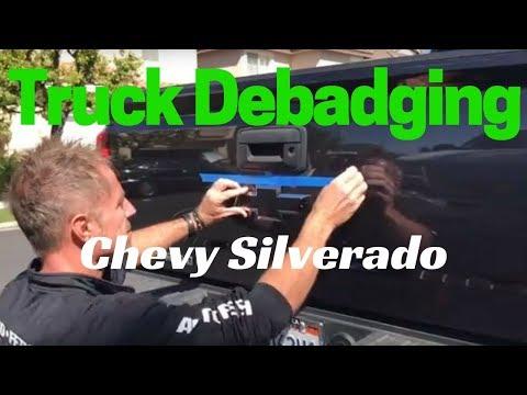 Truck Debadging: Chevy Silverado