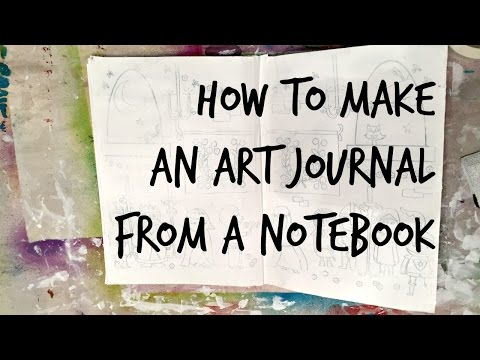 Dollar Store Crafts: How to Make an Art Journal from a Notebook ($10 Art Journal Part 2)