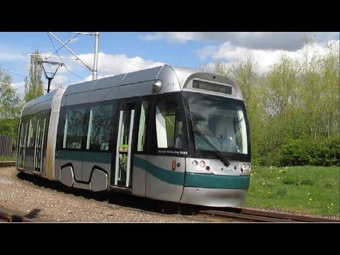 Nottingham Trams Phase One - Hucknall to Station Street via Phoenix Park