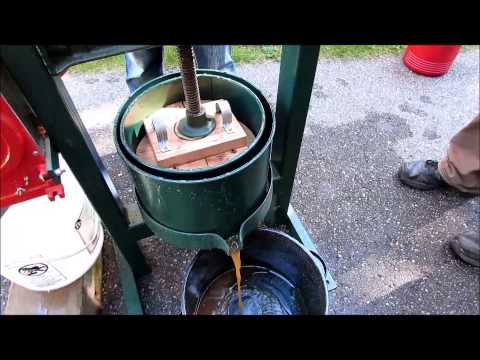 Home made apple cider press