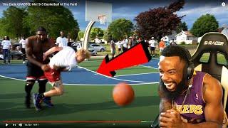 I LIKE THIS! TJass Gets GRABBED! 5v5 Basketball At The Park!