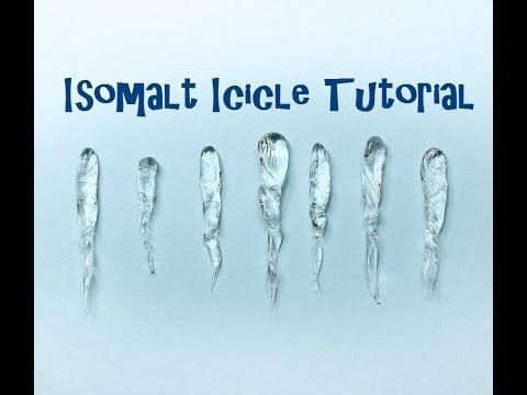 Isomalt Sugar Icicle Tutorial for Cake Decorating