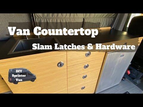 Counter Top and Galley Hardware - DIY Sprinter Camper Van