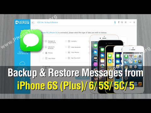 How to Backup & Restore Messages from iPhone 7 (Plus)/6S/6/5S/5C/SE