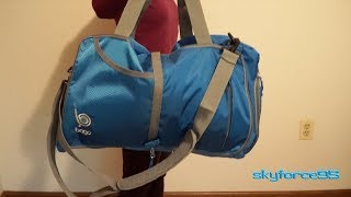 Bago 40L Sports Packable Duffle Bag with Shoe Compartment Review