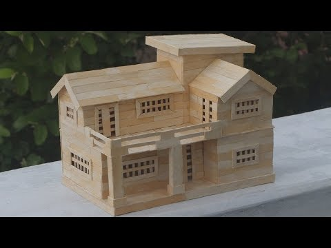 How to Make Popsicle Stick House - Popsicle House building - Dream House
