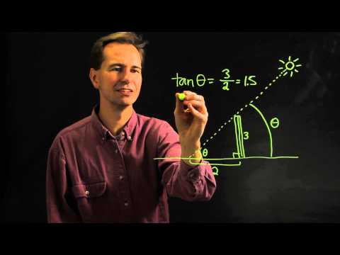 How to Find the Angles of Elevation of the Sun Using the Shadows of Objects : Physics & Math