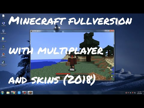 How to download Minecraft Full Version With Multiplayer And Skins (FREE)(TUTORIAL)