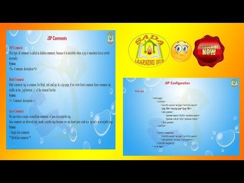 Lesson - 06 : JSP - JSP Comments And how to configure JSP