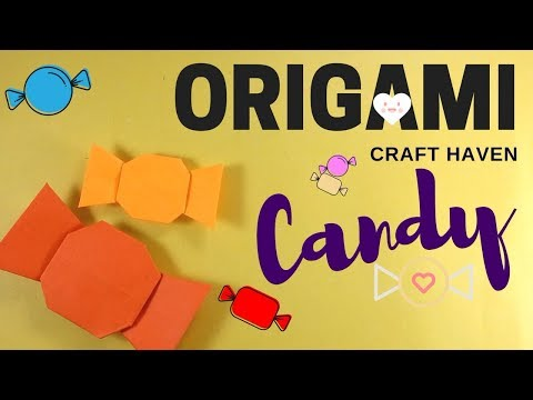 Easy Origami Candy Tutorial for Beginners - How To Make Paper Candy - DIY - Origami Easy Cute Candy