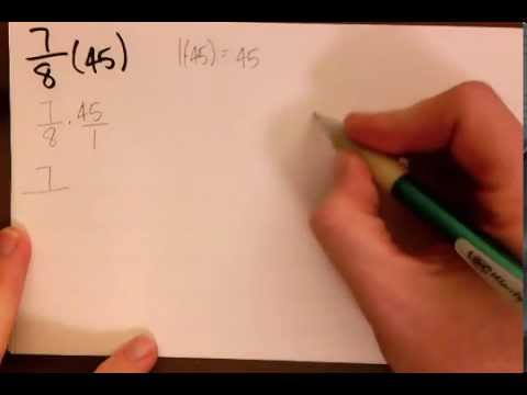 Math 38 - Estimation / Multiplication of Fractions