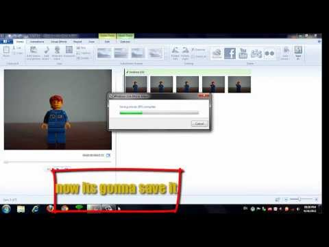 how to make a stop motion using  windows movie maker