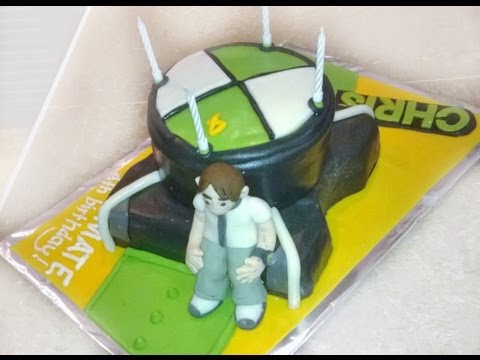 How to make a BEN 10 watch birthday cake