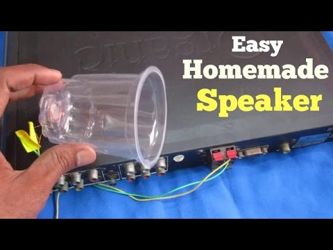 How to make a Speaker at Home Easily Using Plastic Glass (Very Simple)