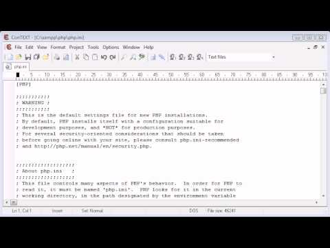 Beginner PHP Tutorial - 7 - The php.ini File