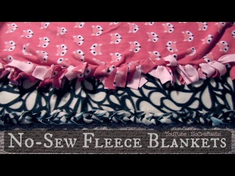 NO SEW FLEECE BLANKET - Easy DIY Tie Blankets | SoCraftastic