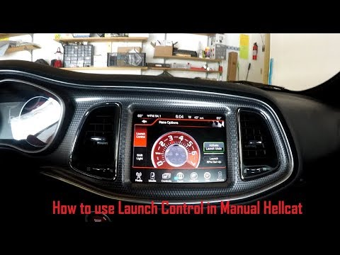 How to use launch control in manual Hellcat