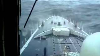 Watch Massive Rogue Wave Hits Navy Ship