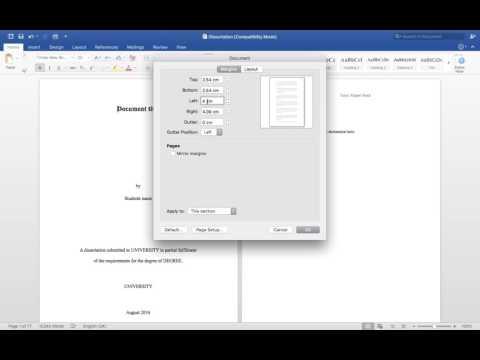 PI Formatting Video Pt6: Margins (Word for Mac 2016)