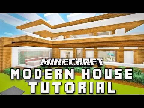 Minecraft Tutorial:  How To Build A Modern House   (Part 3 Design Inspiration )
