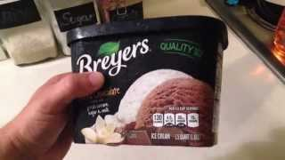 Old Half Gallon Of Ice Cream Compared To New 15 Quart Packaging