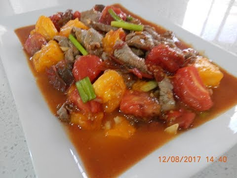 Yummy Beef and Tomato Holiday Stir Fry Recipe
