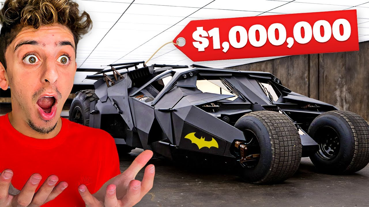 THEY SURPRISED ME WITH THE REAL BAT MOBILE!! ($1,000,000)