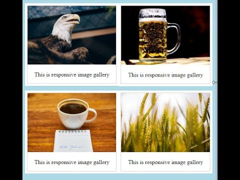 How to create responsive image gallery?