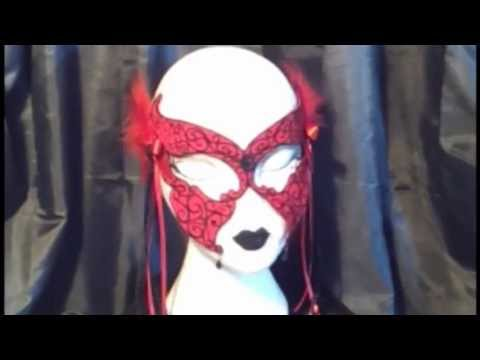 Veil of Visions' Design Clip - Rose Mask - Gothic Fashion